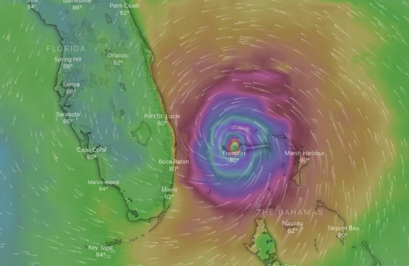 hurricane dorian alert